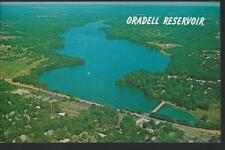 c1950 Aerial View of the ORADELL RESERVOIR Bergen County New Jersey Postcard