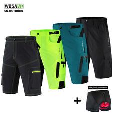 Cycling Baggy Shorts MTB Bike Short Pants + 5D Gel Padded Underwear Sport Shorts