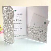 Party Invitation Cards Set Laser Cut Envelopes Greeting Card Rsvp Pocket 50pcs