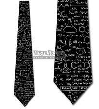 Chemistry Equations Tie Men's Science Black Neck Ties Brand New