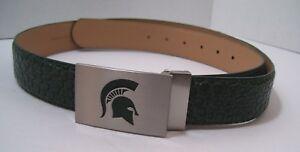 Michigan State University Men/'s  Web Leather Belt