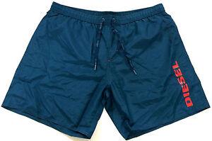 Diesel Mens Swim Beach Shorts Blue/Green Markred Red Logo XL  XXLarge XXL Cheap