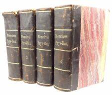 1763-64, Memoirs of Netherlandish authors. Volumes 1-4. Memoirs Pays-Bas.Louvain
