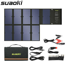 Suaoki Foldable 60W Solar Panel Power Bank Battery Charger For Smartphone 18V DC