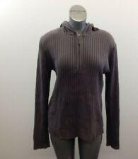 H&M Hooded Ribbed 1/4 Zip Sweater Men's Size Medium Brownish Gray Long Sleeve