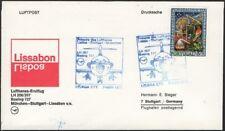 PORTUGAL, 1973. First Flight Lufthansa Sieger, Lisbon - Stuttgart