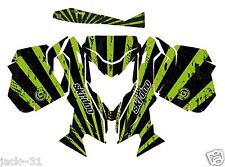 RACING SKI-DOO REV XM SUMMIT SNOWMOBILE SLED GRAPHIC KIT WRAP GREEN 2013 2015