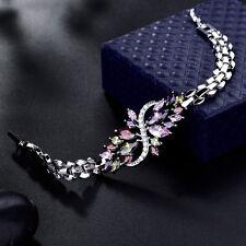 Wholesale 18k Silver Gold Filled Colorful Swarovski Crystal Bracelets Jewellery