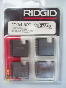 """RIDGID 37840 1-1/4"""" NPT PIPE THREADING DIES RH 12-R O-R 11-R 111-R 00-R 31-A NEW"""