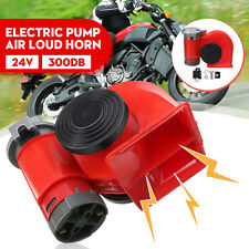 24V 300DB Air Hupe Nebelhorn Loud Dual Tone Fanfare Auto Fanfare Druckluft DE