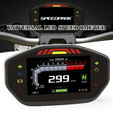 1PC 12V For 2.4 Cylinder Motorcycle LED Speedometer LCD Digital Odometer General