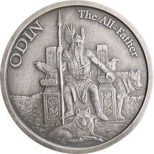 1 OZ ODIN ANTIQUE .999 Silver w/ COA VALKYRIE NORSE GODS SERIES #1 VIKING