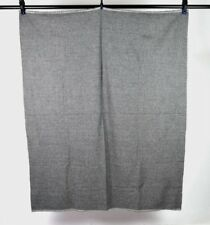 """Vtg Charcoal Soft Luxe Wool Woven Sewing Fabric Craft Medium Weight 48"""" x 58"""""""