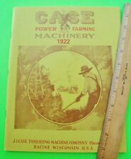1922 CASE FARM MACHINERY CATALOG 116-pgs REPRINT Tractors ROAD ROLLERS Threshers