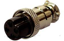 3 X 4 Pin Enchufe de alta calidad de Micrófono Mic CB Ham Radio
