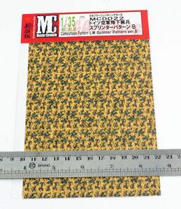 US German Infantry Decal 1/35 Military WWII Model Camouflage Splinter Pattern B