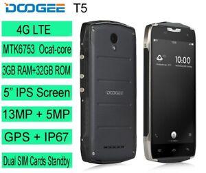 "5.0"" DOOGEE 4G Rugged Smartphone T5 Octa-core 3GB RAM+32GB ROM 4500mAh Mobile"