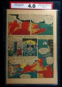 All Winners Comics #4 CPA 4.0 SINGLE PAGE #11/12 Human Torch Timely Comics