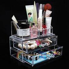 Acrylic Cosmetic Organizer Drawer Makeup Case Storage Insert Holder Box Cabinet