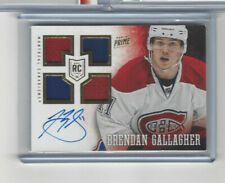 13-14 Panini Prime Rookies Quad Jersey Autograph #133 Brendan Gallagher 084/199