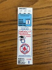 1986 Boston Red Sox American League Championship Series Ticket Stub Game 1