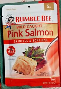 20 Five Ounce Pkg. Bumble Bee Wild Caught Pink Salmon  Free Shipping