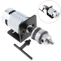 12-24V 775  Electric Lathe Press Motor with B10Drill Chuck and Mounting Bracket