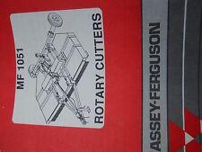 Massey Ferguson Rotary Cutters Manual for MF1051