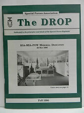 """""""GREEN BERET"""" THE DROP MAGAZINE, FALL 1990 ISSUE, SPECIAL FORCES ASSOCIATION"""
