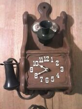 Spartus Electric Phone Wall Clock.
