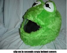 MOTORBIKE FUNNY HEEDS CRAZY CRASH HELMET COVERS  MOTORCYCLE COVER KERMIT FROG