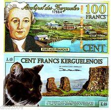 Archipel des KERGUELEN 100 FRANCS 2010 POLYMER / cHAT NOIR UNC NEUF