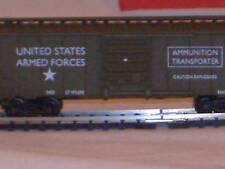 HO  SCALE US ARMY BOX CAR  AMMUNITON TRANSPORTER #98665