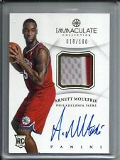 Arnett Moultrie 12/13 Immaculate Collection Autograph Game Used Jersey RC 18/100