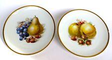 Porzellan Teller Schuhmann Bavaria mit Obst-Motiv und Goldrand