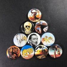 "Salvador Dali 1"" Button Pin Set Spanish surrealist artist Art"