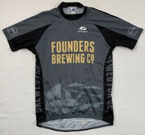 founders brewing beer brewery voler cycling 3/4 zip jersey sz large use made