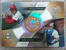 2005 UpperDeck Reflections Cut From the Same Cloth Mike Piazza Johnny Bench /225