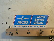 STICKER,DECAL AKZO DUTCH OLYMPIC YACHTING TEAM TWARON,SYMPATEX,SIKKENS