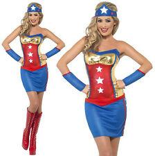 Smiffy's Fever Ladies Sexy Super Hot Hero Superhero Fancy Dress Costume 10-12
