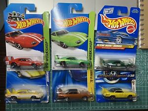 """Hot Wheels '70 Plymouth Superbird """"First Editions Daytona Charger X6 Bundle"""