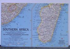 Vintage 1962 National Geographic Map of Southern Africa