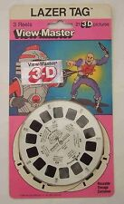 Lazer Tag Academy View-Master 3 Reels 1986 MOC Carded Sealed