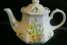 Sadler Windsor Hexagonal Teapot Basket Weave 2 Pint