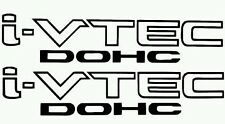 I-Vtech DOHC honda Decal Stickers Set of 2 Civic Accord Prelude CRX SI Acura jdm