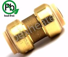 """3/4"""" SHARKBITE STYLE PUSH FIT COPPER PEX CPVC COUPLING Push'N'Connect LEAD FREE"""
