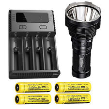 Acebeam K70 Flashlight XHP35 HI LED -2600Lm w/I4 Charger & 4x NL189 Batteries