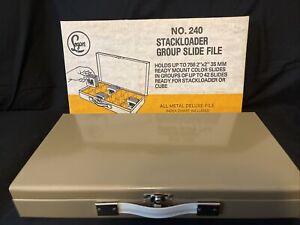 Vintage Logan deluxe slide file, no. 240 in Original Box 2×2,holds 756 slides