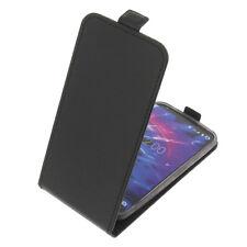 Étui pour Medion Life E5004 Smartphone Style Rabattant Housse Étui à Clapet Noir