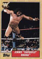 Superfly Jimmy Snuka 2007 Topps Heritage III WWE Card #76 Pro Wrestling Legend 3
